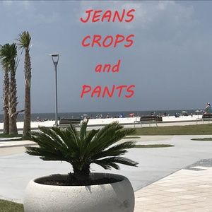 JEANS, CROPS AND PANTS